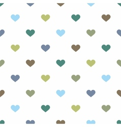 Tile pattern pastel hearts on white background vector