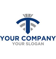 Titan wireless logo design vector