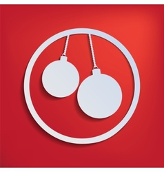 two christmas balls for your design vector image