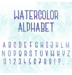 Watercolor Abstract alphabet Letters with vector