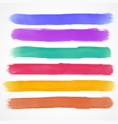 Watercolor brush stroke set hand painted vector