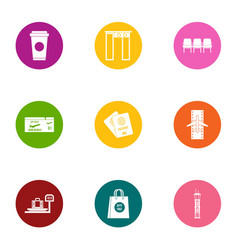 Weigh a load icons set flat style vector