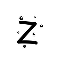 Z hand drawn alphabet design template vector