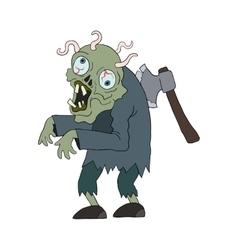 Zombie man cartoon character vector
