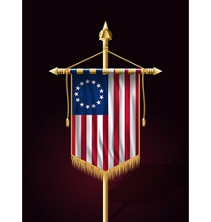 American Betsy Ross Flag Vertical Banner vector image vector image