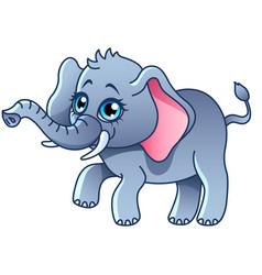 cartoon elephant isolated vector image