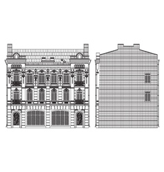 drawing house vector image