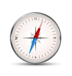 Glossy compass icon on white vector image