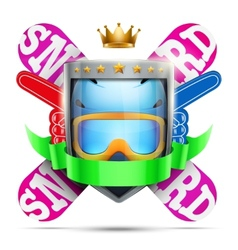 Label for winter sport club or event Bright vector image