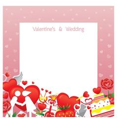 Love Border Frame vector image vector image