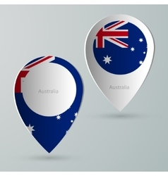 paper of map marker for maps australia vector image vector image