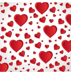 red hearts love seamless pattern design vector image