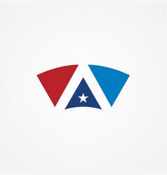 shape star america logo vector image