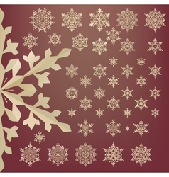 Snowflakes of old paper Retro style EPS 10 vector image vector image