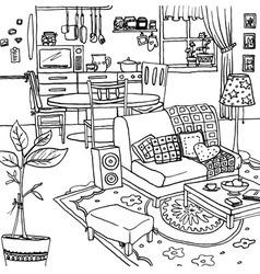 Cartoon of apartment vector image