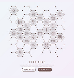 furniture concept in honeycombs vector image vector image