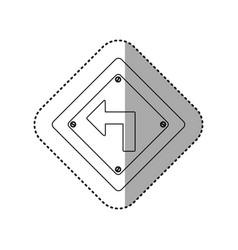 Sticker silhouette metallic diamond frame turn vector