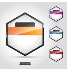 symbol bright abstract talk origami concept vector image