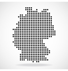Abstract map of Germany from round dots vector image vector image