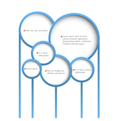 Abstract web design bubbles vector image