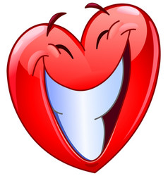 big smile heart vector image vector image