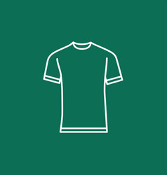 blank t-shirt template vector image vector image
