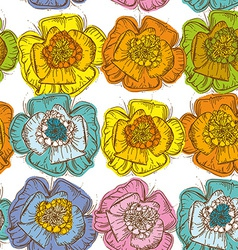 Elegance Seamless pattern orange blue yellow pink vector image