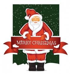 Santa Claus with Christmas ban vector image