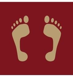 The footprint icon foot symbol flat vector