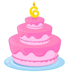 a birthday cake vector image