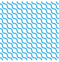abstract seamless pattern with blue waves in vector image vector image