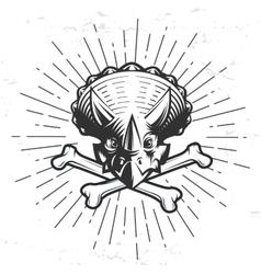 Dino logo template Triceratops sport mascot vector image