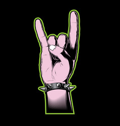 horn sign vector image