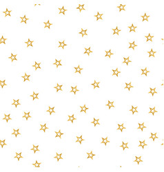 seamless pattern of decorative golden stars on a vector image