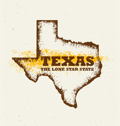 texas the lone star usa state creative vector image