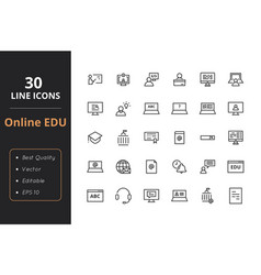 30 education line icon vector image
