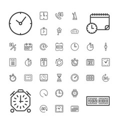 37 time icons vector