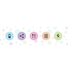 5 menu icons vector