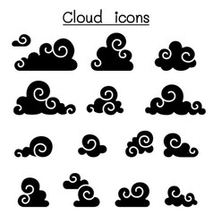 Abstract cloud chinese cloud curl cloud vector