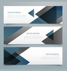 Abstract horizontal business banner set vector