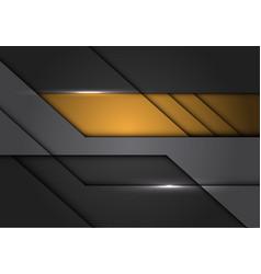 Abstract yellow grey metallic circuit design vector