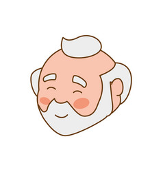 adult male avatar elder head vector image