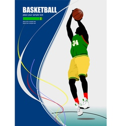 al 0640 basketball poster 01 vector image