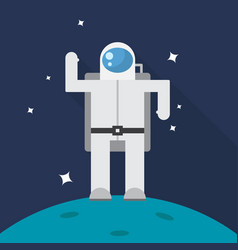 astronaut icon set of great flat icons with vector image