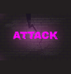 Attack abstract background vector