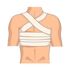 back bandage injury or trauma posture medical vector image