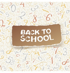 Back to school on numbers seamless pattern vector