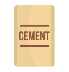 Bag of cement icon isolated vector