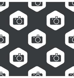 Black hexagon camera pattern vector