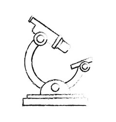 Blurred silhouette image cartoon microscope vector